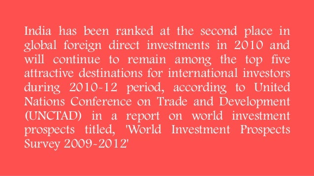 international trade fdi in india Using macroeconomic variables – gdp, inflation rate, interest rate, patents, money growth and foreign trade – the authors tried to find the best fit model ( arima (p,d,q)) to explain variation in fdi inflows into india the authors tested for various assumptions taken before applying autoregressive integrated moving average.