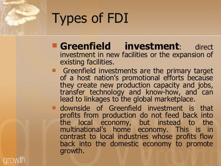 greenfield investment in india The greenfield project means that a work which is not  what is the difference in green field projects and brownfield  it refers to investment in a .