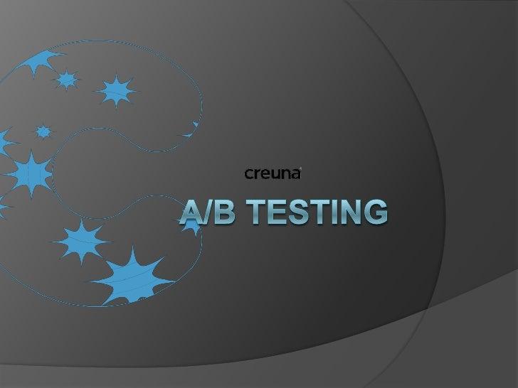 A/B testing<br />