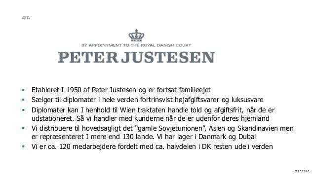 FDIH Peter Justesen Company - Salg til diplomater