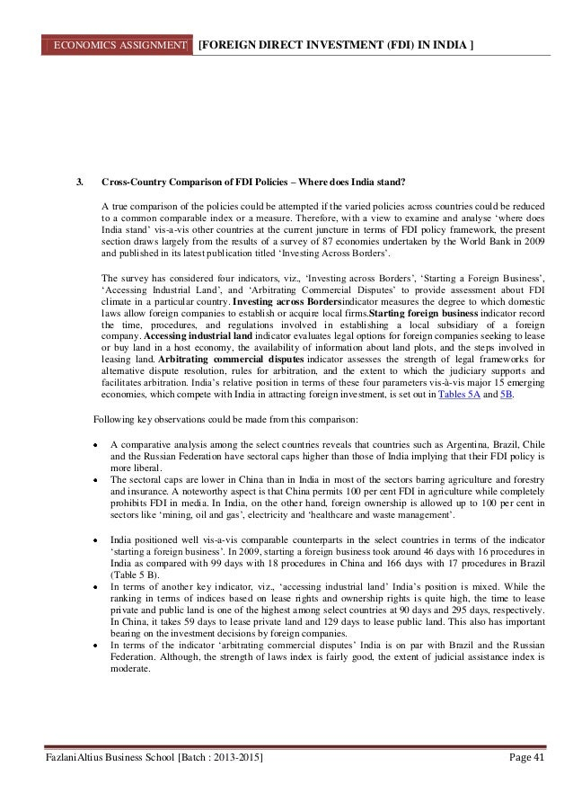 Research papers on foreign direct investment
