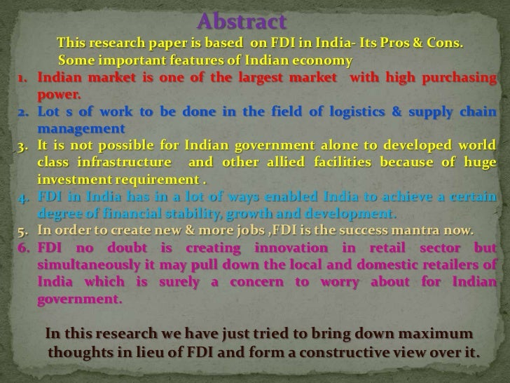 pros and cons of fdi in retail marketing essay Foreign direct investment pros and cons  we offer essay help  as well as reasonable reimbursement and recognition for marketing and distribution functions.
