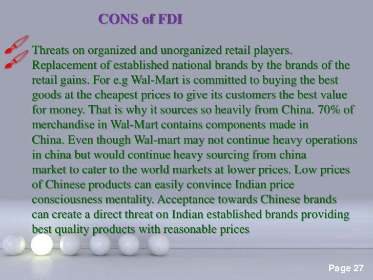 fdi in its pros and cons page 26 27