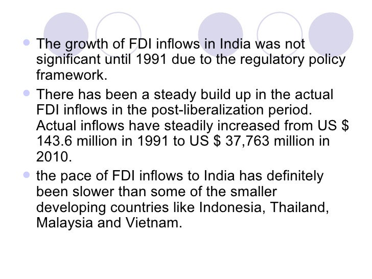 impact of fdi in indian retail The impact of foreign direct investment on the retail industry in india.