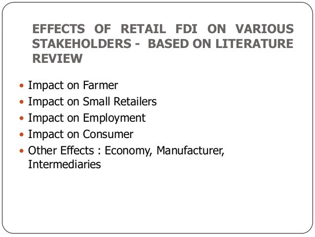 literature review on the indian retail indusry What is a review of the literature a literature review is an account of what has been published on a topic by accredited scholars and researchers.