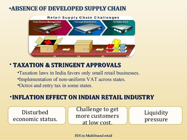 fdi in retail sector challenges and Retail sector is expanding and modernizing rapidly in line with india's economic   allows 51% fdi in single brand retailing and 100% in cash-n-carry business.