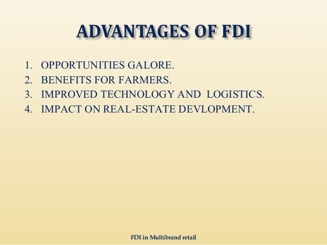 fdi in retail is a boon Impact of foreign direct investment on retail sector in india uploaded by  if done in the right manner, it can prove to be a boon and not a curse.