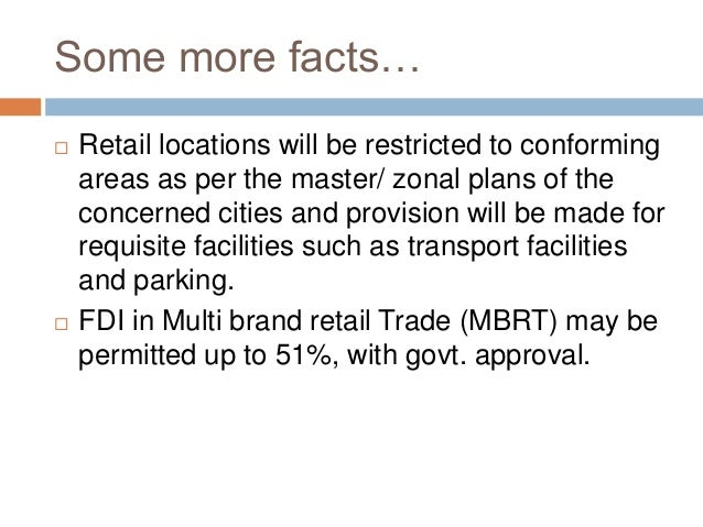 Timeline: FDI in multi-brand retail