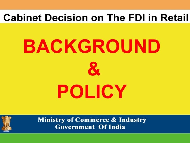 BACKGROUND & POLICY