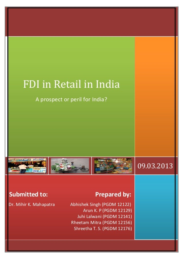 Is Foreign Direct Investment (FDI) in retail sector good for India?