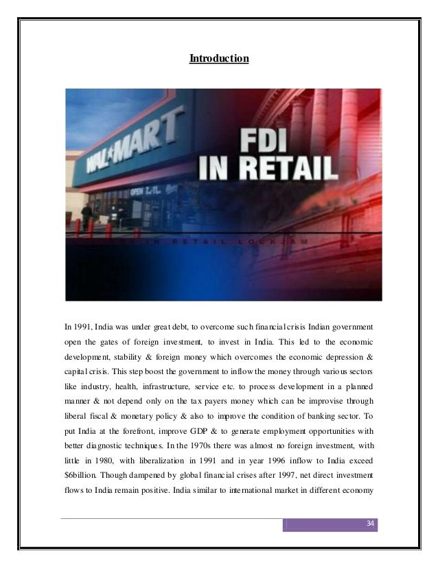 fdi in indian retail sector The untapped rural sector and the lesser developed tier ii and tier iii cities  provide ample opportunities for growth the liberalisation of fdi in single-brand  retail.
