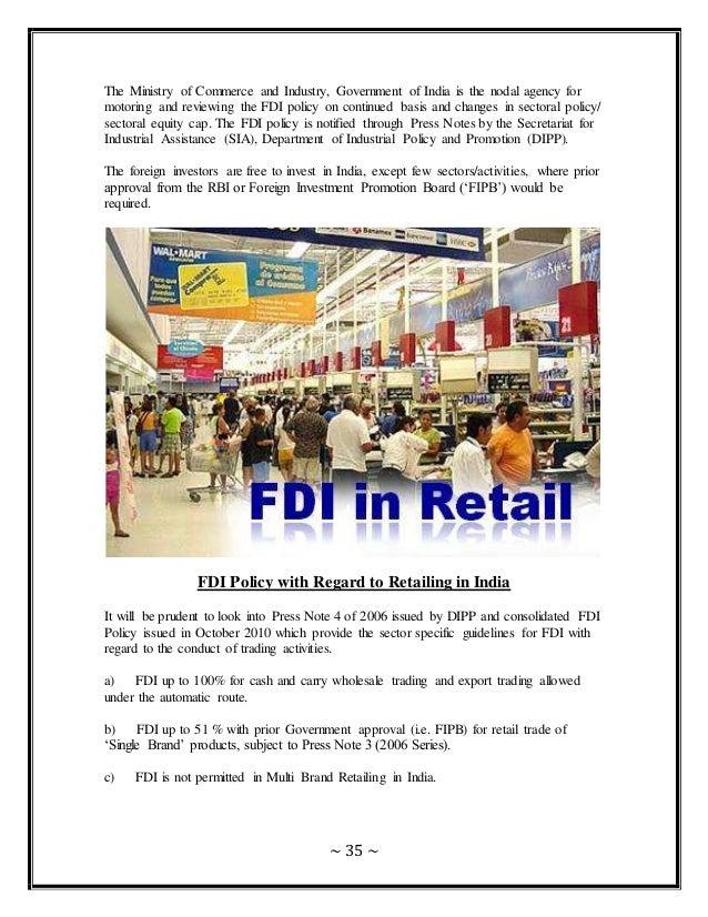 Fdi in retail in india