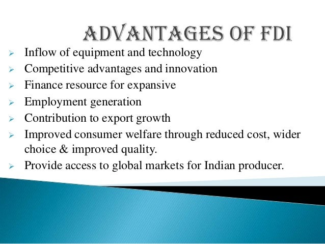 Foreign direct investment advantages and disadvantages ppt presentation money investments canada