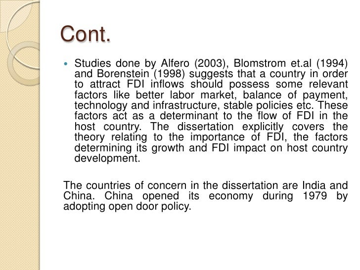 analysis the factors that determine fdi inflow economics essay Determinants and growth effect of fdi in south asian economies: emphasized that what principle factors that determine fdi inflow or what factors being attractive for fdi inflow and effect of fdi on economic growth in a cross-country regression framework.