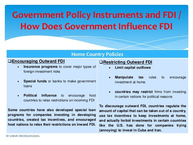impact of fdi on home and host countries