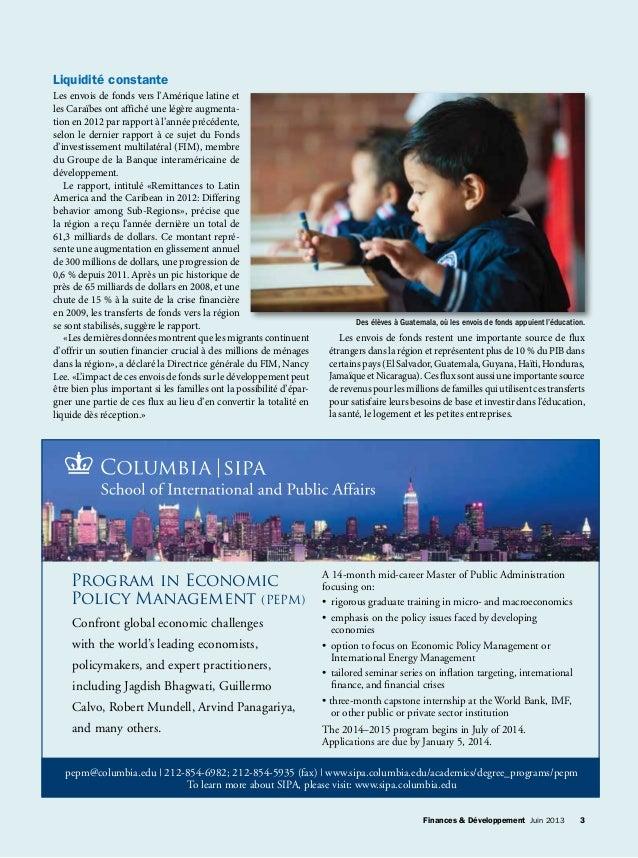 Finances & Développement Juin 2013 3Finances & Développement Juin 2013 3 Program in Economic Policy Management (PEPM) ...
