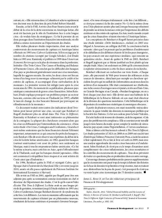 Finances & Développement Juin 2013 7 suivant,etc.»ElleretournadoncàColumbiaetachevarapidement son doctorat sous la direc...