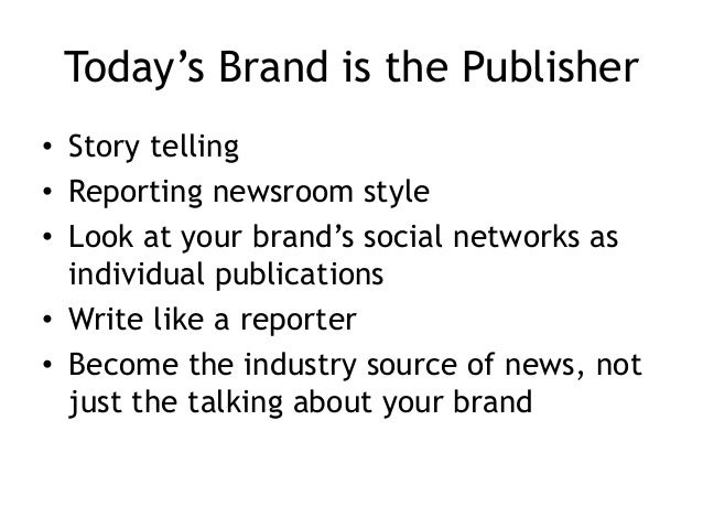 Newsrooms Write a press release or blog post and pull out 15-20 Tweets that link back to the press release