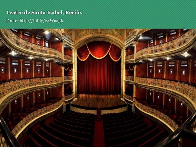 Teatro de Santa Isabel, Recife. Fonte: http://bit.ly/24Waa5k