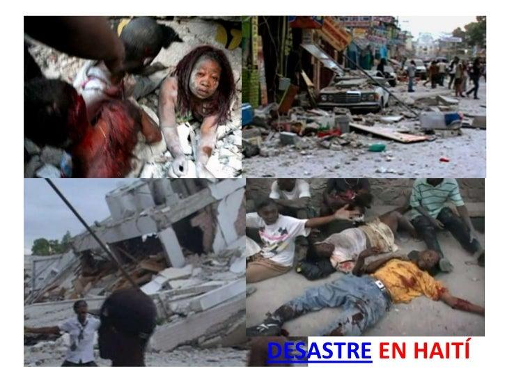 DESASTRE EN HAITÍ