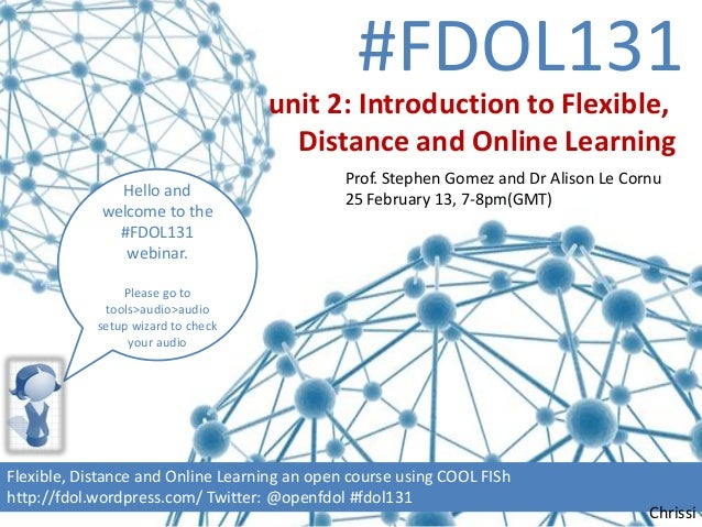 #FDOL131                                    unit 2: Introduction to Flexible,                                      Distanc...