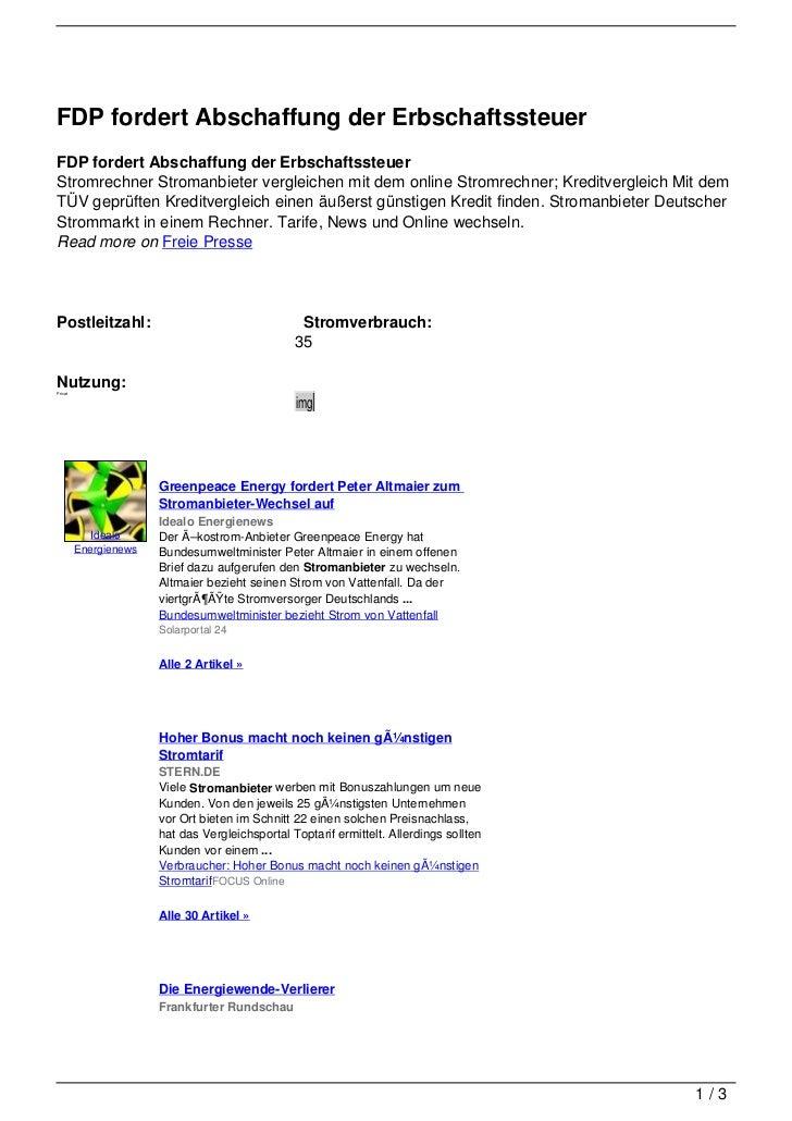 FDP fordert Abschaffung der ErbschaftssteuerFDP fordert Abschaffung der ErbschaftssteuerStromrechner Stromanbieter verglei...