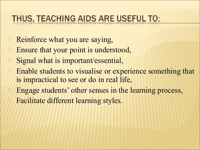 How to make effective use of Teaching Aids?