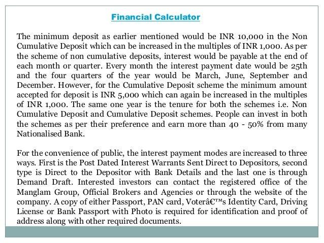 Manglam Fixed Deposit Scheme - An Opportunity That Guarantees High Returns Slide 3