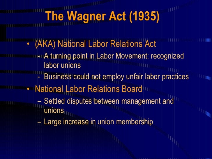 national labor relations act On april 11, 2018, former management lawyer john ring was confirmed via a 50 -48 party-line vote to serve on the five-member national labor relations board.