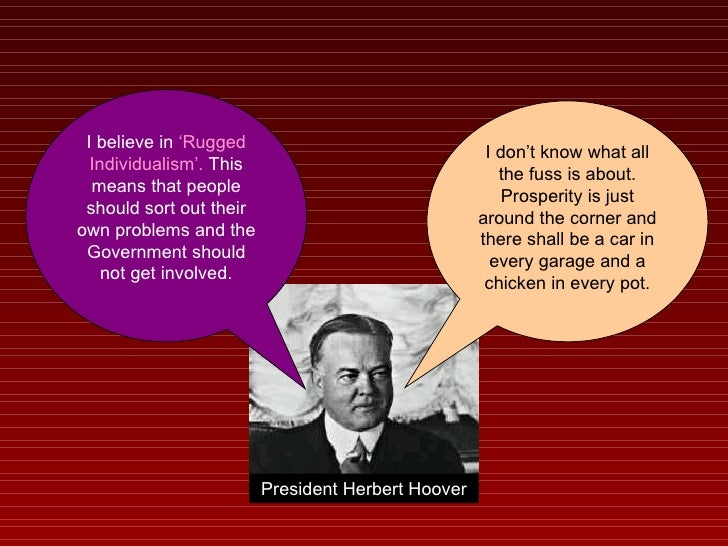 President Hoover Believed In Rugged Individualism Carpet