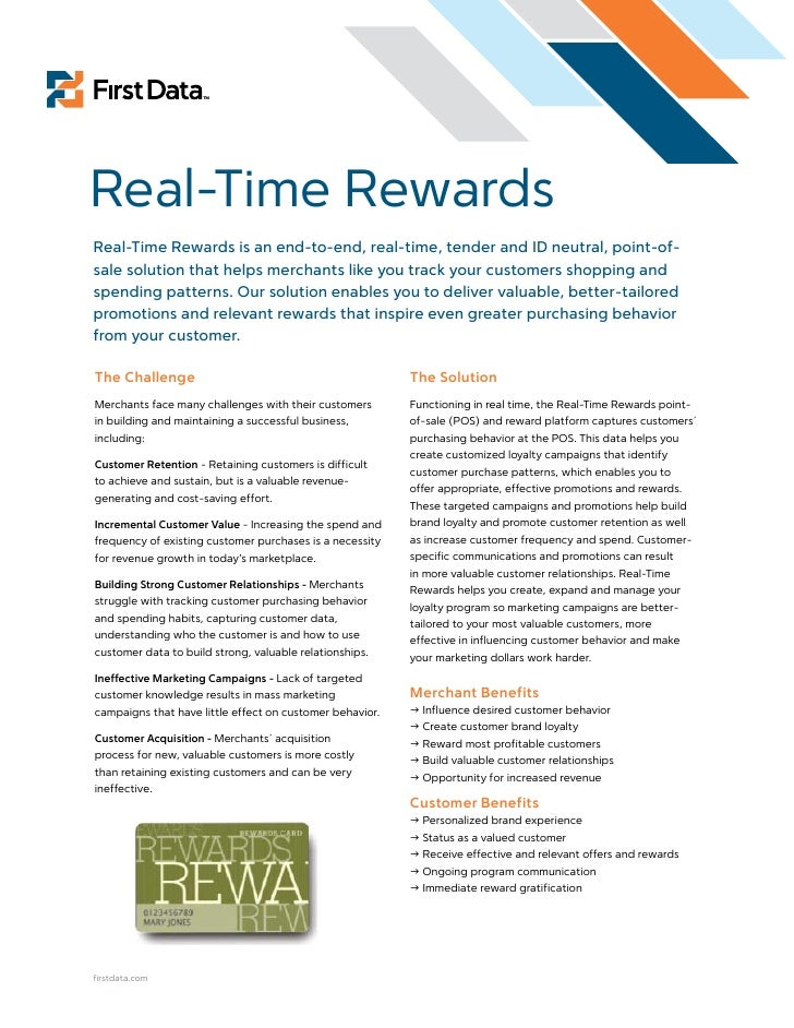 Real-Time Rewards Real-Time Rewards is an end-to-end, real-time, tender and ID neutral, point-of- sale solution that helps...