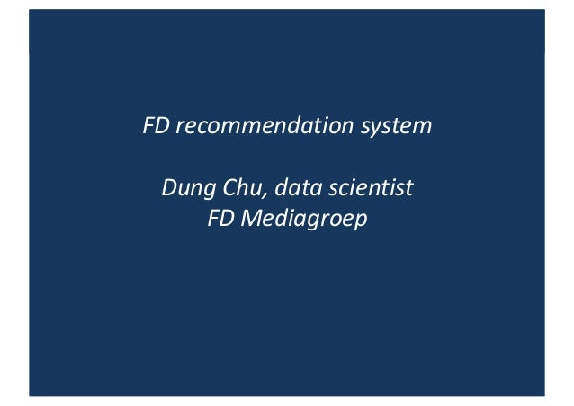 FD recommendation engine in personalized newsletters Slide 1