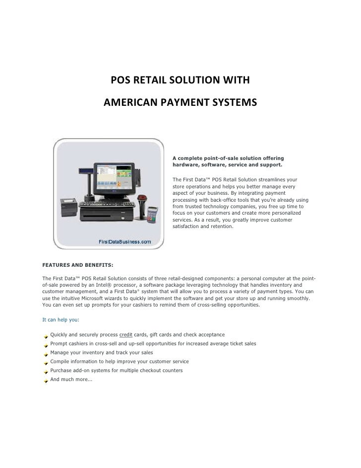 Fdr pos retail solution