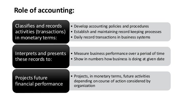 roles and function of accounting