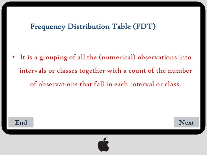 frequency data table