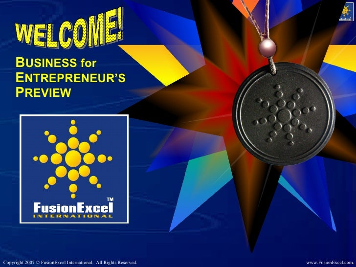 B USINESS for  E NTREPRENEUR'S  P REVIEW WELCOME!