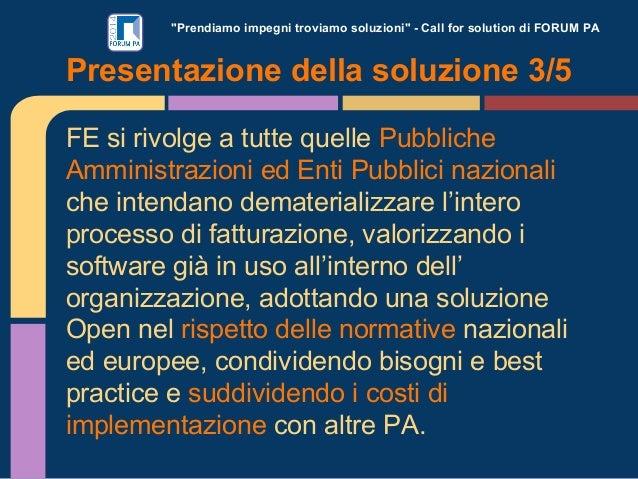 """""""Prendiamo impegni troviamo soluzioni"""" - Call for solution di FORUM PA FE si rivolge a tutte quelle Pubbliche Amministrazi..."""