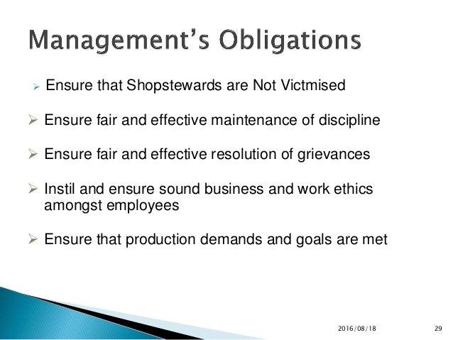 the union management relationship