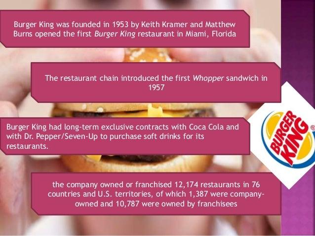 Presentation On Burger King Industry