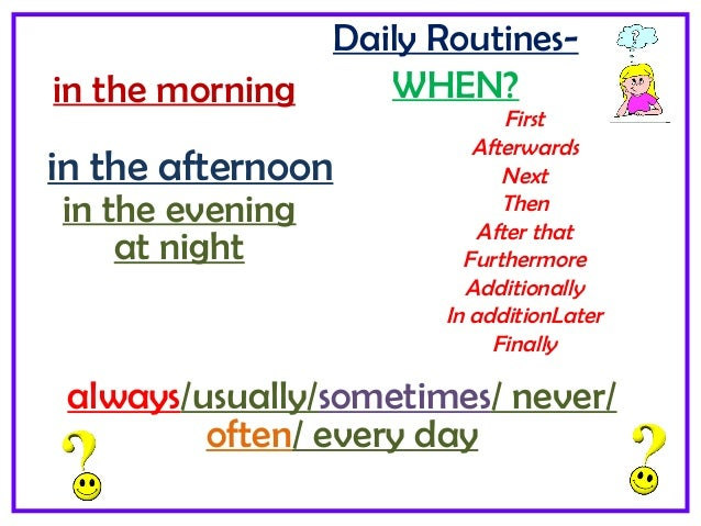 my friend daily routine essay