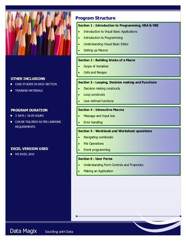 Brochure - Excel VBA (Macros)
