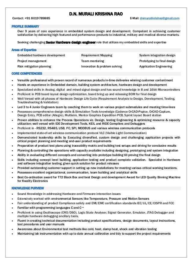 Murali Resume