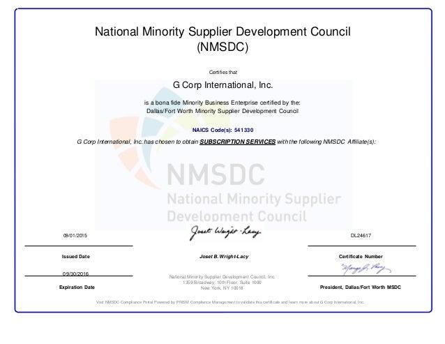 certification mbe nmsdc minority slideshare upcoming
