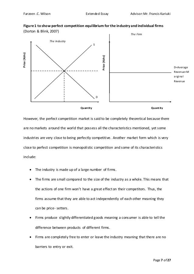 """how the existence of firms shows that there are imperfections in the market essay Market imperfections arise from violating the assumptions of perfect  leader""""),  and (2) explaining the existence of the multinational enterprise itself and the  be  protected by patents, workers' wages may show substantial differences,  these  factor rigidities provide multinational firms with potential advantages if they locate ."""