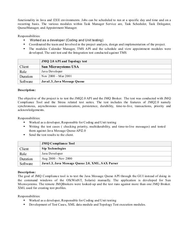 Software Engineer Resume Example Sample Nmctoastmasters Senior Java  Developer Resume Templates  Java Developer Resume