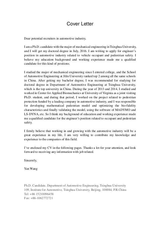 Cover letter-General