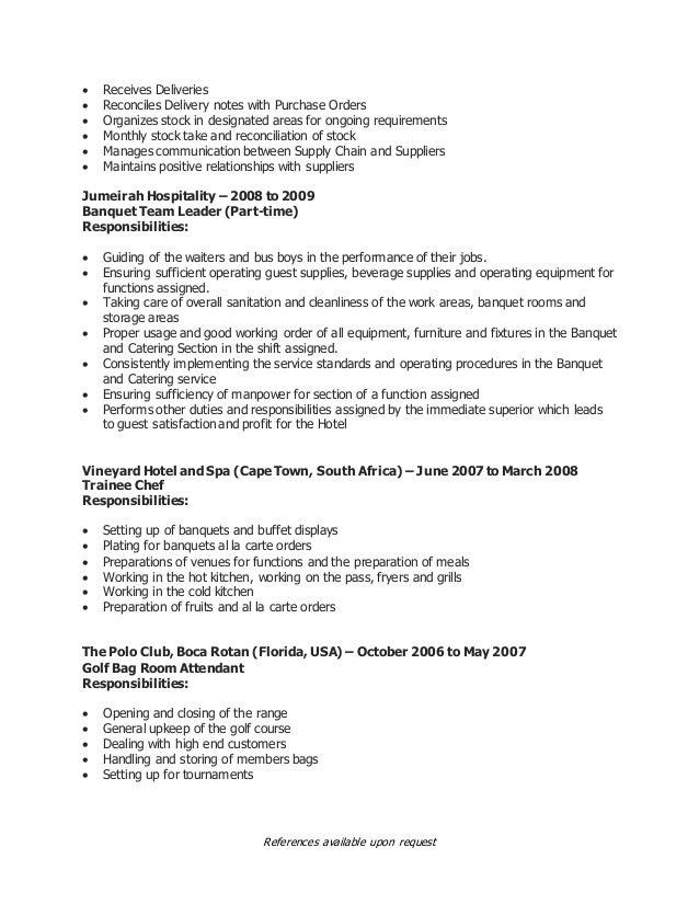 CV of Marcellus VDM