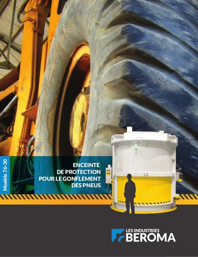 ENCEINTE DE PROTECTION POUR LE GONFLEMENT DES PNEUS Modèle76-30