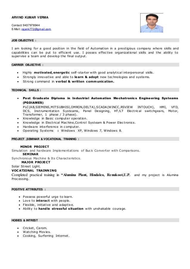 plc based resume
