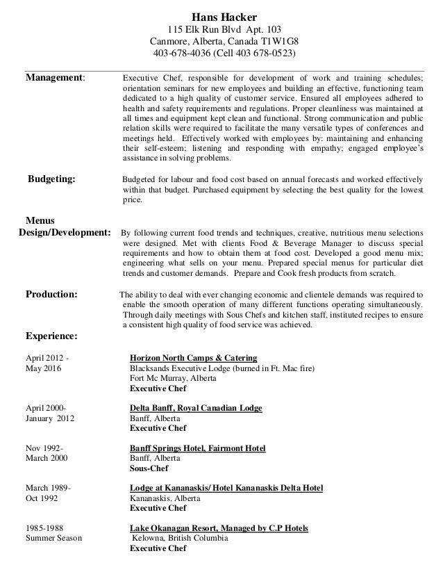 Hans Hacker Resume 2016